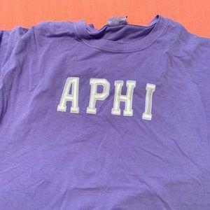 Alpha Phi Purple Comfort Colors Shirt